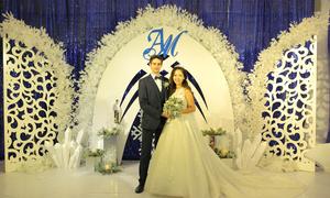 Tiệc cưới chủ đề 'Bản tình ca mùa đông' giữa lòng Hà Nội