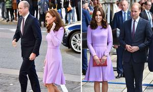 Kate mặc váy cũ đi sự kiện cùng chồng