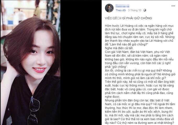 Chia sẻ của đạo diễn Lê Hoàng.