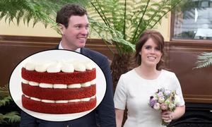 Công chúa Eugenie chọn bánh cưới red velvet