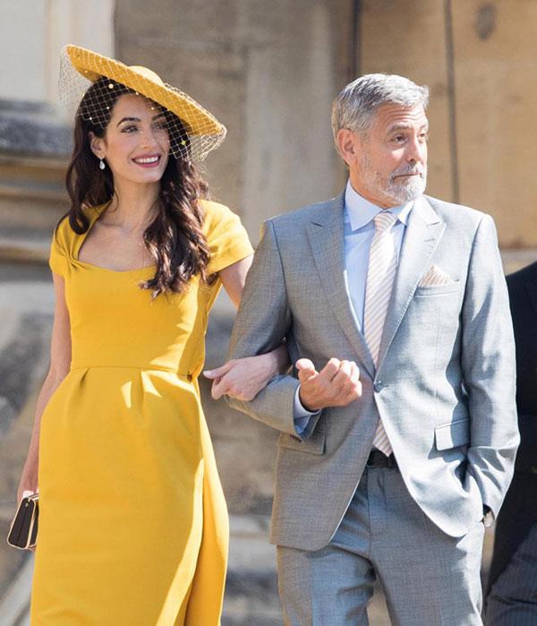 Vợ chồng tài tử George và Amal Clooney xuất hiện nổi bật tại đám cưới Hoàng tử Harry hôm 19/5, lâu đài Windsor. Ảnh: UK Press.