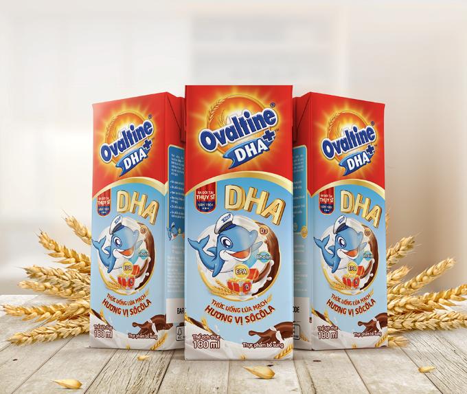 Thức uống ca cao lúc mạch bổ sung hàm lượng DHA tốt cho sự phát triển não bộ của trẻ.