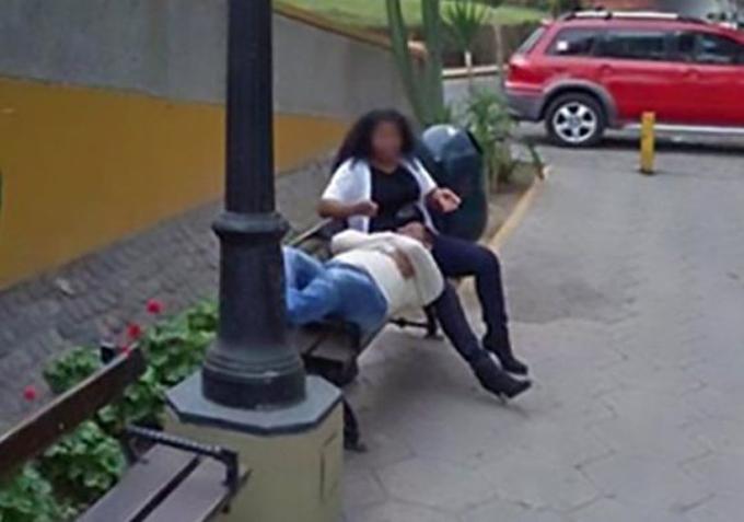 Bức ảnh chụp bởi Google Street View vạch trần việc người vợ ngoại tình. Ảnh: CEN.