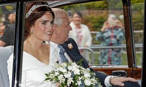 Công chúa Eugenie không cài voan cưới theo truyền thống hoàng gia