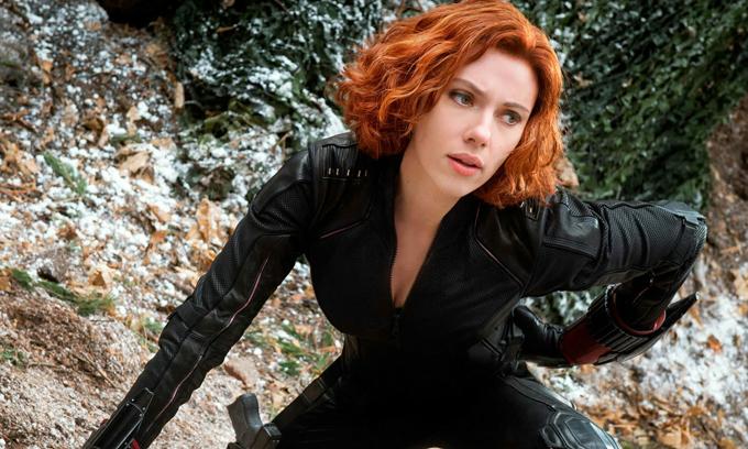 Scarlett Johansson trong tạo hình của Black Widon