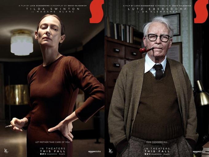 Tilda Swinton với hai tạo hình khác biệt trong phim Suspiria