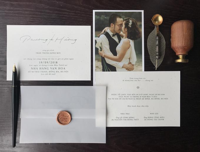 Tấm thiệp cưới của Phương - Hường