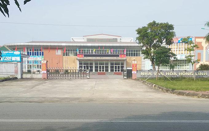 Trung tâm Văn hóa thể thao và Du lịch thị xã Hồng Lĩnh. Ảnh: Hùng Lê