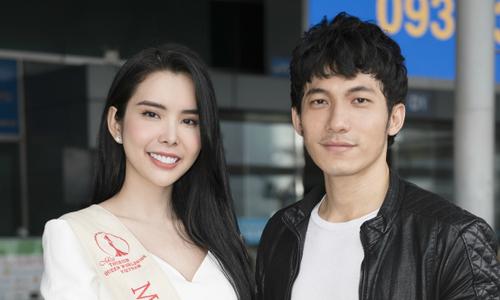 Liên Bỉnh Phát tiễn người đẹp 'siêu vòng 3' Huỳnh Vy đi thi quốc tế