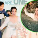 Nhật Kim Anh bị Quý Bình xô xuống hồ bơi