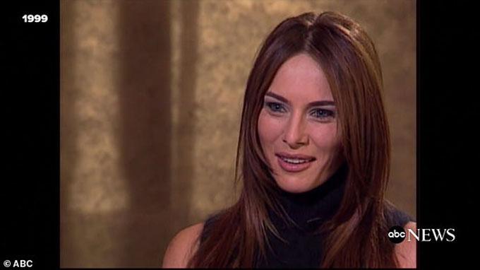Melania trả lời phỏng vấn của ABC News khi 26 tuổi về mối quan hệ yêu đương với tỷ phú Donald Trump. Ảnh: ABC.