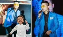 Con trai Tuấn Hưng chạy lên sân khấu biểu diễn cùng bố