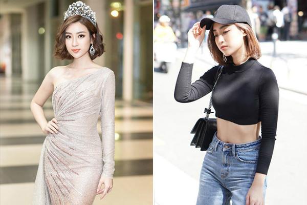 Một tháng trước ngày trao lại vương miện cho Tân Hoa hậu Trần Tiểu Vy, Mỹ Linh gây bất ngờ khi cắt phăng mái tóc dài. Một tuần sau đêm chung kết, cô thu hút mọi ánh nhìn khilần đầu mặc áo croptop cá tính.