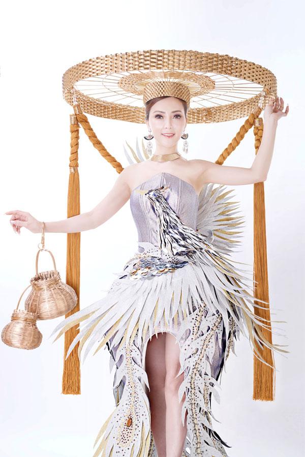 Đỗ Thị Thảo khoe trang phục dân tộc dự thi Miss Lumiere International Word 2018 - 1