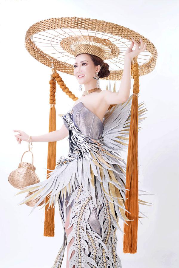 Đỗ Thị Thảo khoe trang phục dân tộc dự thi Miss Lumiere International Word 2018 - 3