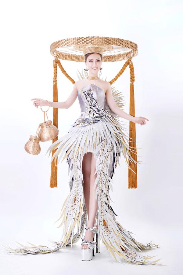 Đỗ Thị Thảo khoe trang phục dân tộc dự thi Miss Lumiere International Word 2018 - 4