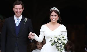 Công chúa Eugenie chọn trang điểm cưới tông hồng