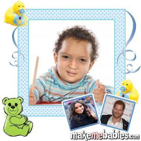 Con của Harry - Meghan sẽ có mái tóc màu đỏ và đôi mắt đen - 1