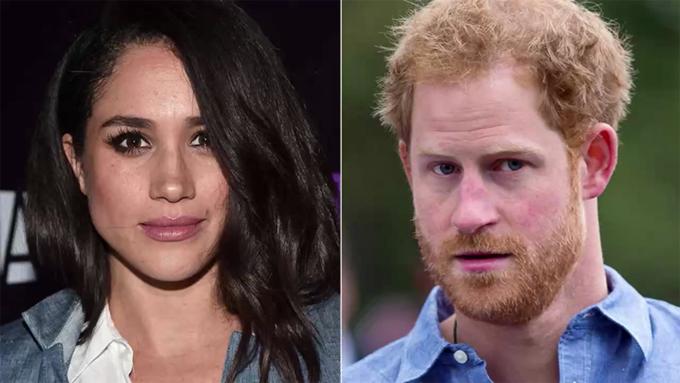 Meghan có làn da màu, tóc đen và mắt nâu, trong khi Harry da trắng, tóc đỏ và mắt sáng màu. Ảnh: UK Press.