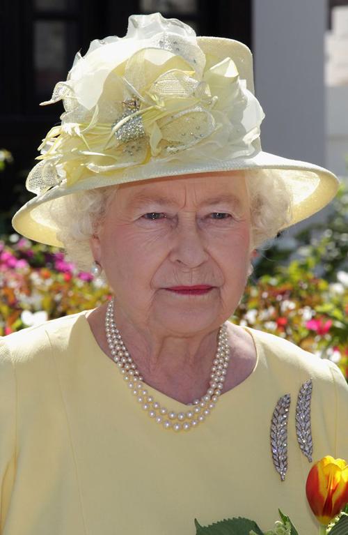 Nữ hoàng Elizabeth thường xuyên diện chiếc trâm Wheat-Ear hình bông lúa mì để cài áo. Ảnh: Townandcountrymag