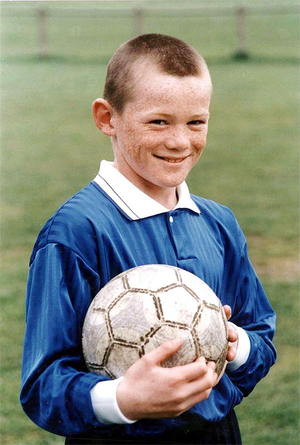 Rooney năm 10 tuổi.