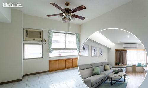 """Nhà chung cư 40 năm """"biến hình"""" thành căn hộ hiện đại"""