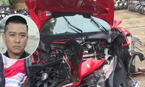 Tuấn Hưng gặp tai nạn, siêu xe 15 tỷ nát đầu