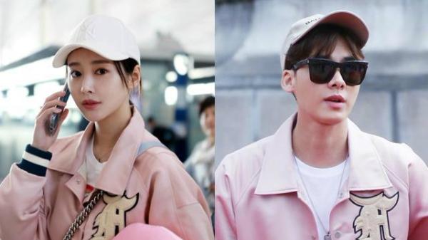 Hai người còn bị bắt gặp xuất hiện trong một chiếc áo có màu sắc và kiểu dáng y hệt nhau tuy không cùng thời điểm.