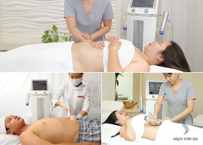 Giảm béo tầng sâu Nonfat-S Nhật Bản: là giải pháp ứng dụng công nghệ tiên tiến RET, với năng lượng điện từ RF đi sâu vào vùng tích mỡ, hóa lỏng mỡ thừa, phá tan mỡ cứng và đào thải nhẹ nhàng khỏi cơ thể theo đường bài tiết tự nhiên. Cơ thể nhẹ nhõm, thoải mái sau trị liệu là cảm nhận chung của nhiều khách hàng.