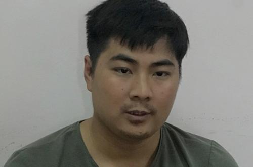 Nghi phạm Dương Văn Lộc tại cơ quan công an.