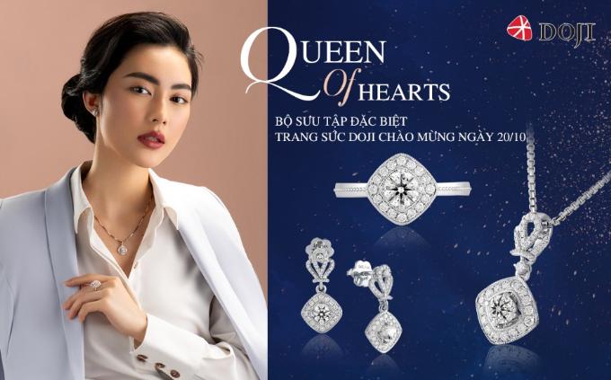 Trang sức kim cương 8 trái tim 8 mũi têntạo điểm nhấn phong cách, thanh lịch nơi công sở, thể hiện guthẩm mỹ bắt nhịp xu hướng thời trang thế giới của các chị em.
