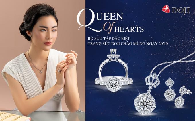 Bộ sưu tậpQueen of hearts hướng tới những quý cô quản lýnơi công sở vàphái đẹp tự chủ tài chínhm, giúp họ thêm nổi bật về nhan sắc cũng như tài năng.