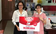 Maritime Bank trao giải thưởng 66 triệu đồng cho khách hàng may mắn