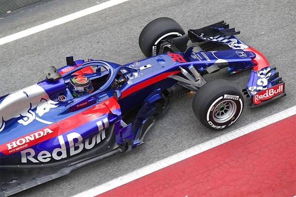 Xe đua Công thức 1 của đội Red Bull Toro Rosso.