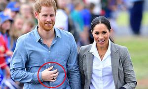 Bí mật sau chiếc nhẫn mới màu đen của Hoàng tử Harry