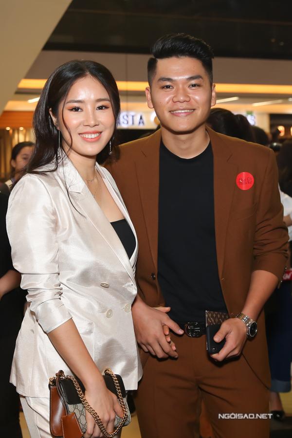 Vợ chồng diễn viên Lê Phương và Trung Kiên.