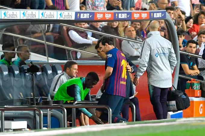 Barca của Messi đang đứng đầu bảng xếp hạng La Liga với 18 điểm sau 9 vòng, hơn đội thứ hai Alaves một điểm.