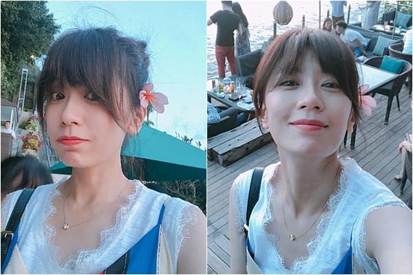 Người đẹp Đài Loan thường xuyên chia sẻ ảnh mặt mộc trẻ trung, tươi tắn trên trang cá nhân.