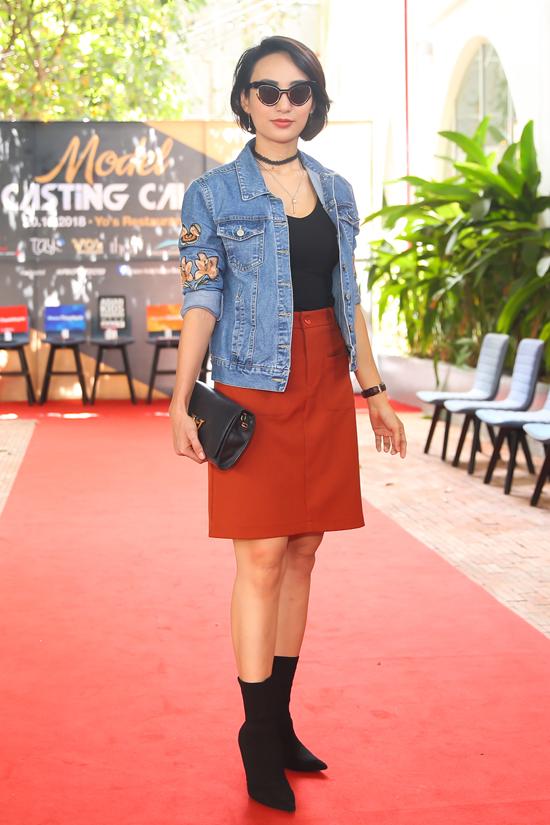 Hoa hậu Ngọc Diễm xuất hiện trẻ trung với mái tóc ngắn và trang phục cá tính. Cô ủng hộ và đánh giá cao nỗ lực của ban tổ chức khi tạo ra sân chơi thời trang chuyên nghiệp để các em thiếu nhi.