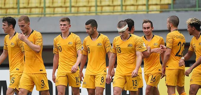 U19 Australia mừng chiến thắng trước Việt Nam. Ảnh: AFC.