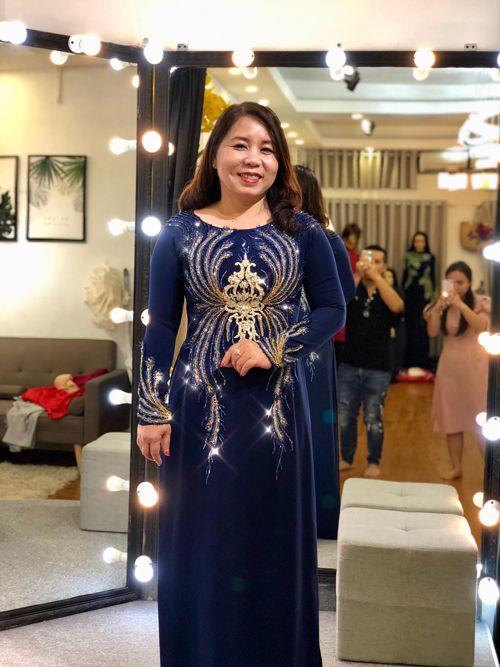 NTK Minh Châu tư vấn áo dài cho mẹ cô dâu, chú rể vóc dáng tròn - 2