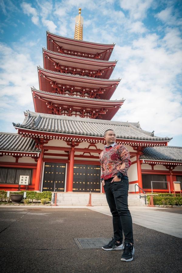 Nhà thiết kế Đức Vincie khám phá ngôi đền cổ nhất ở Tokyo - 4
