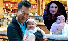 Con gái 3 tháng tuổi của Thanh Thảo bám ba hơn mẹ