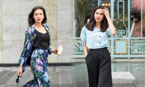 Dương Mỹ Linh mix đồ dạo phố với trang phục Tăng Thanh Hà