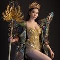 Trang phục dân tộc nặng 20 kg của 'siêu vòng ba' Huỳnh Vy
