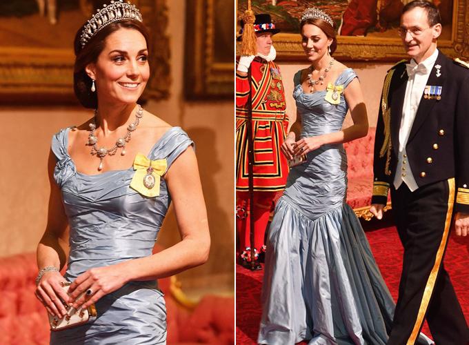 Chiếc váy của Kate bị nhận xét là thiếu tinh tế và kém sang. Ảnh: PA.