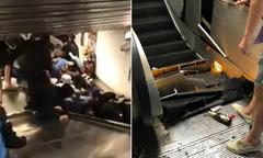 Thang cuốn ga tàu điện Rome sập, 30 người bị thương