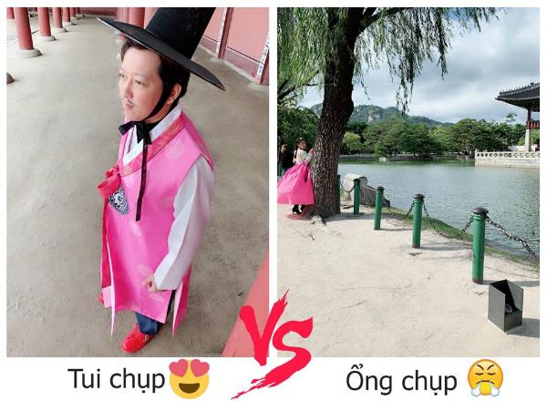 Hai bức ảnh khiến Nhã Phương và Trường Giang tranh cãi ai chụp có tâm hơn?.