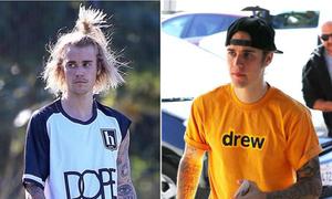 Justin Bieber 'đốn tim' fan khi cạo râu, búi tóc gọn gàng