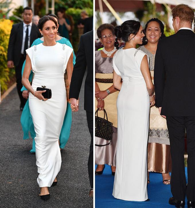 Ý nghĩa ẩn sau bộ đầm trắng Meghan diện ở Tonga - 1